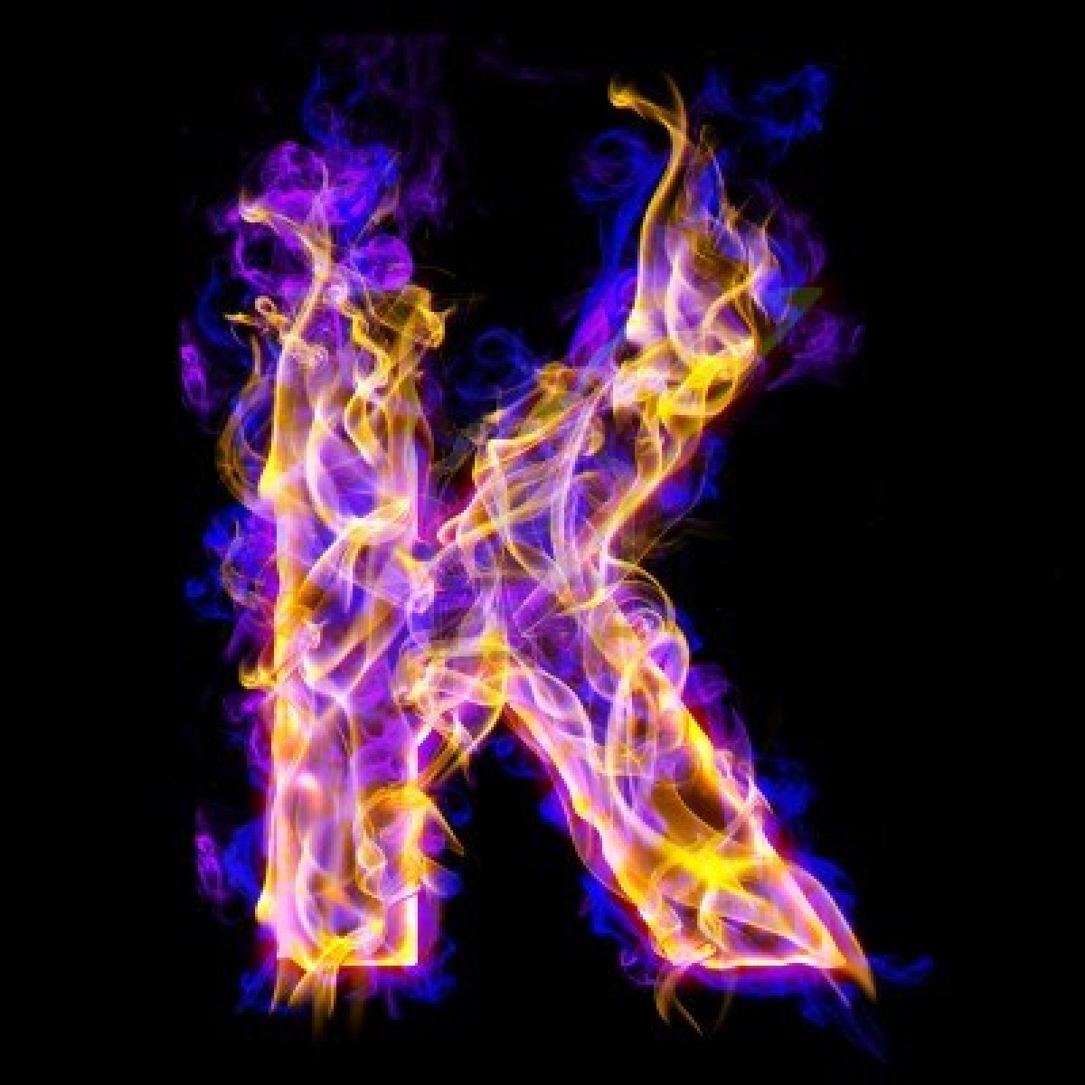 K is for… | Apoplect...K Logo In Fire