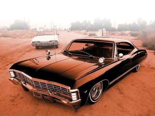 1967 black Chevrolet Impala