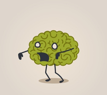 Zombie brain illustration