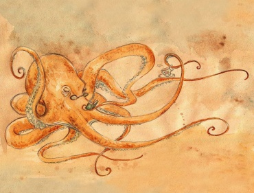 an_octopus_drinking_tea_by_pseudooctopus-d4rneme